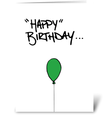"""Happy"" Birthday greeting card"