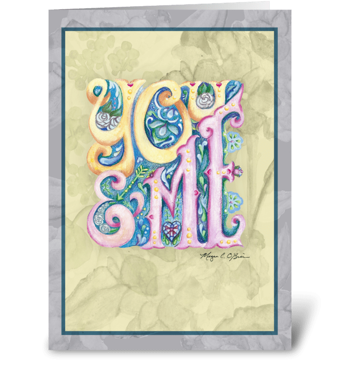 You & Me greeting card