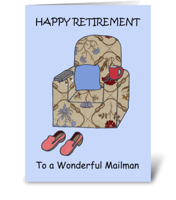Mailman Happy Retirement greeting card