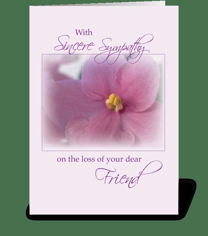 Friends, Sympathy, Lilac  greeting card
