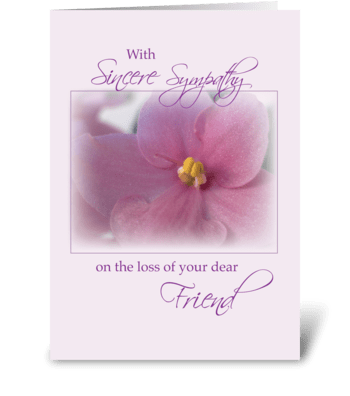 Friends, Sympathy, Lilac  greeting card
