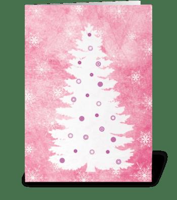 White Christmas tree greeting card