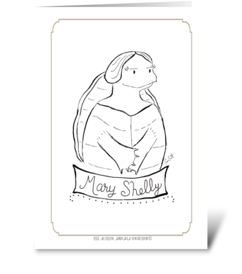 The Author Animalia Collection: Mary greeting card