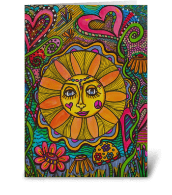 Summer Sun Mandala greeting card