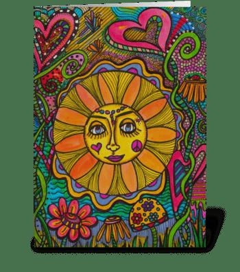 Summer Sun Mandala greeting card