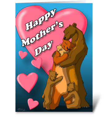 Mother Bear Hug greeting card