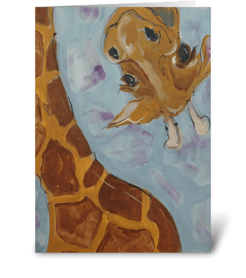 Tall Giraffe greeting card