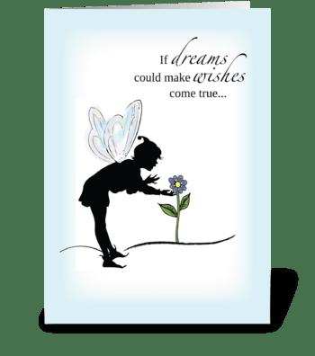 Shadow Fairy Birthday greeting card