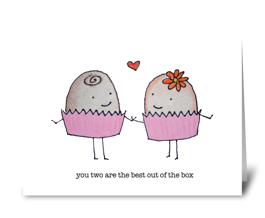 Candies in Love greeting card