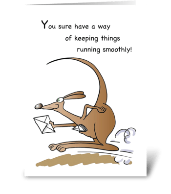 Admin Pro Day Kangaroo Running, Humor greeting card