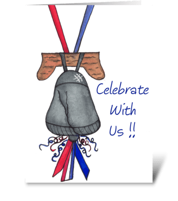 Independence Day Bell Celebrate Card greeting card