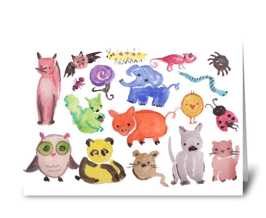 Creatures & Critters greeting card