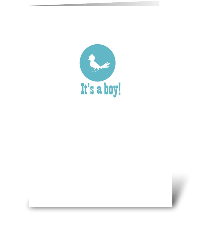 It's a Boy! (Bird) greeting card