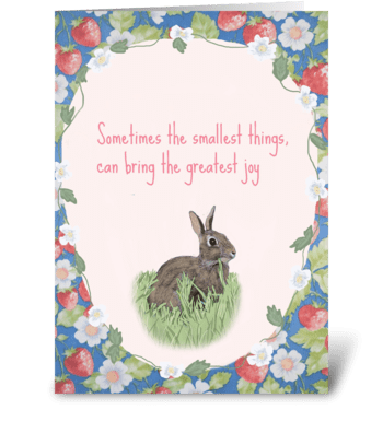 Simple Things greeting card