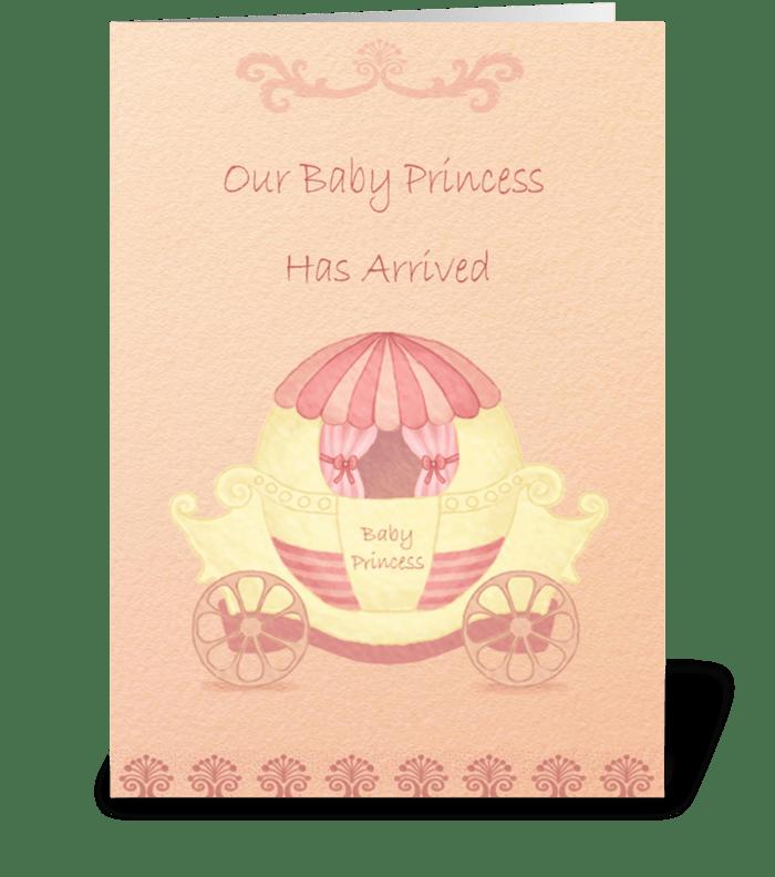 Baby Princess greeting card