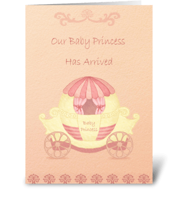 Baby Princess greeting card