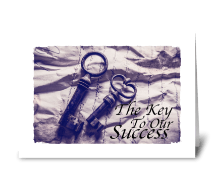 Key to success greeting card