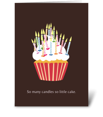 Candle Birthday card greeting card