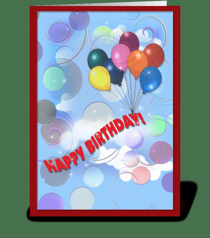 Whimsical Birthday Greeting greeting card