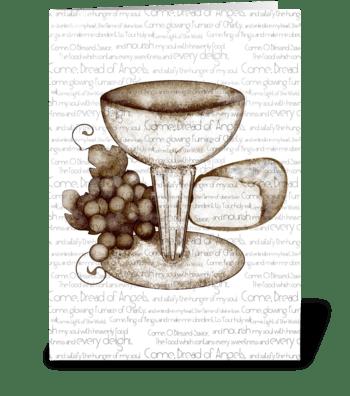 Communion Prayer Card  greeting card
