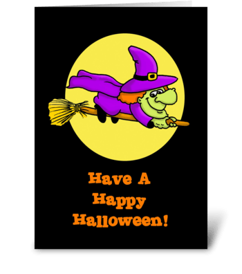 Witching You A Happy Halloween greeting card