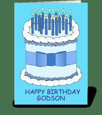 Birthday for Godson greeting card