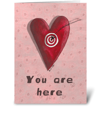 You are here greeting card