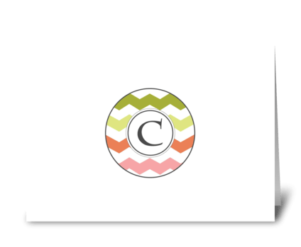 "Chevron Monogram ""C"" greeting card"