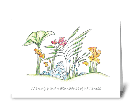 Wishing you an abundance of happiness greeting card