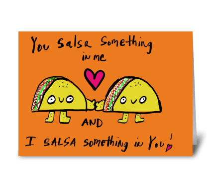 Taco Love greeting card