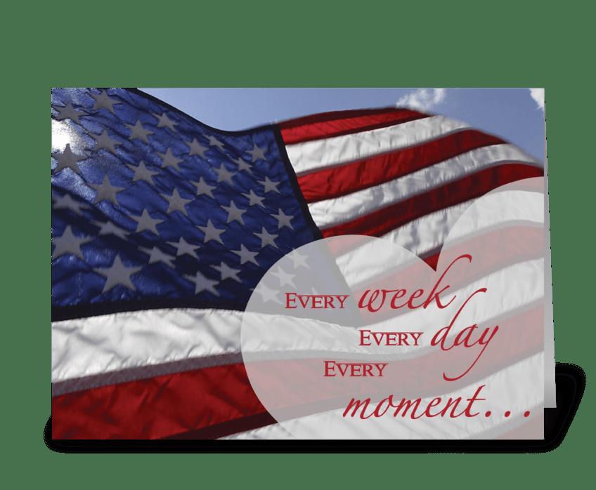 3303 Veteran's Day Thankful greeting card