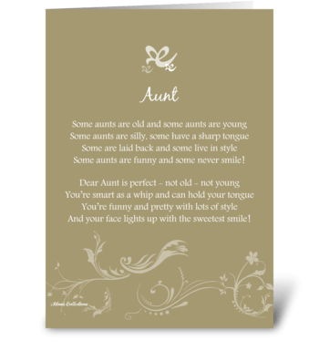 Poetry Aunt greeting card
