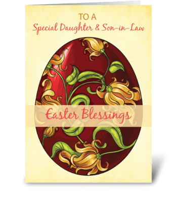 Daughter and Son-in-Law, Easter Blessing greeting card