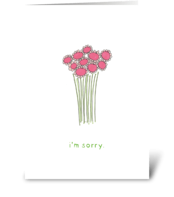 pink daisy-i'm sorry greeting card