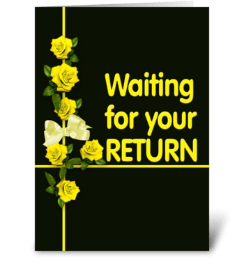 Yellow Ribbon, Greetings greeting card