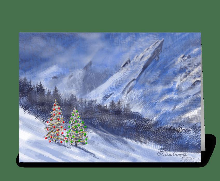 Flatirons Christmas greeting card