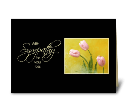 Sympathy Tulips greeting card