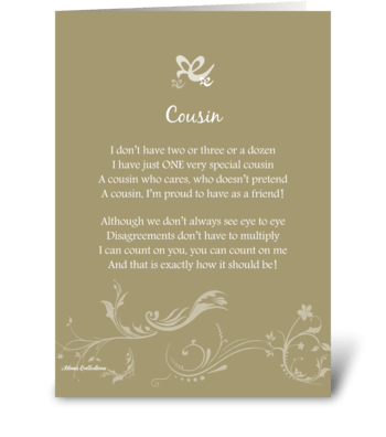 Poetry Cousin greeting card
