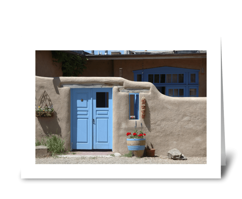 Taos Courtyard Door greeting card