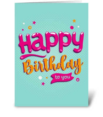Bubble Birthday greeting card