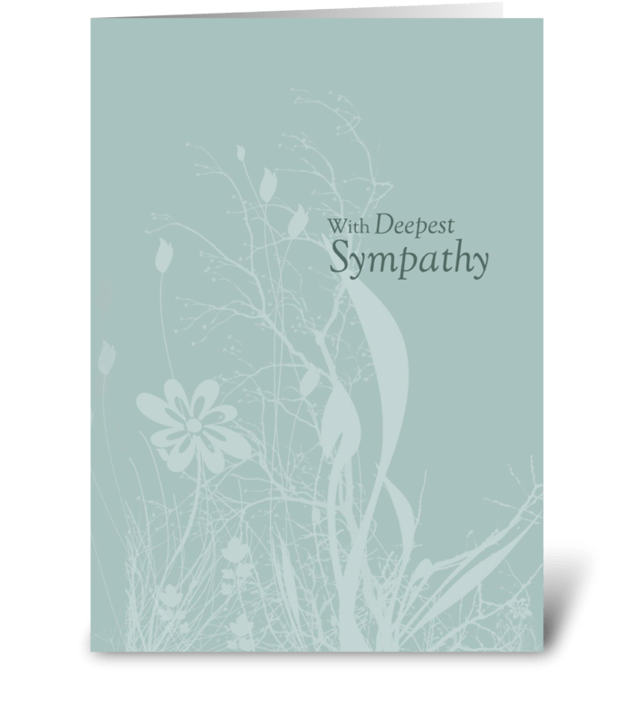 Seafoam Soft Organic Sympathy greeting card