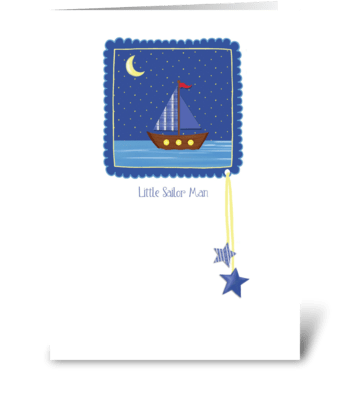 Little Sailor Man - Congratulations Baby greeting card