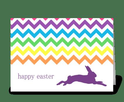 Rainbow Chevron Easter Card greeting card