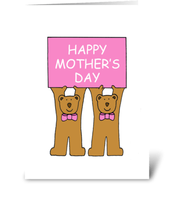 Happy Mother's Day from the Twins. greeting card
