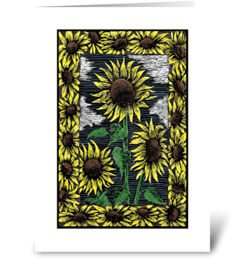 Majestic Sunflowers greeting card