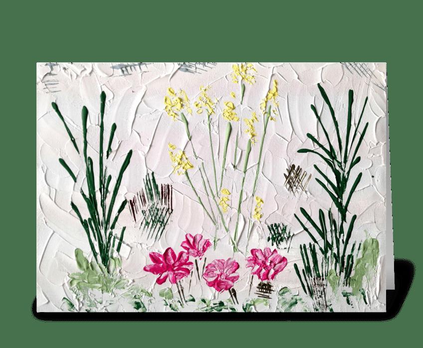 Summer Flowers Blank greeting card