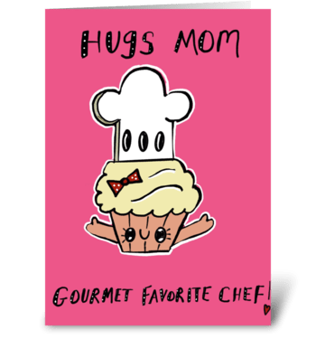 Gourmet Favorite Chef greeting card