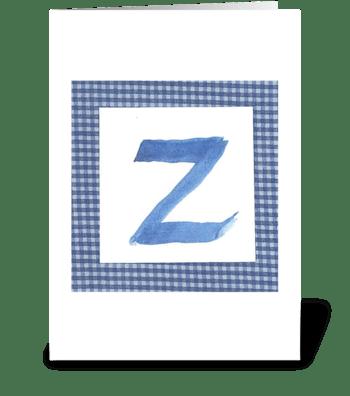 Z - Baby Boy greeting card