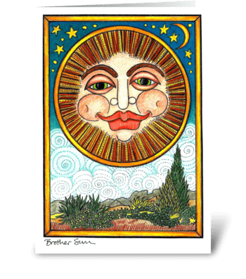 Brother Sun greeting card