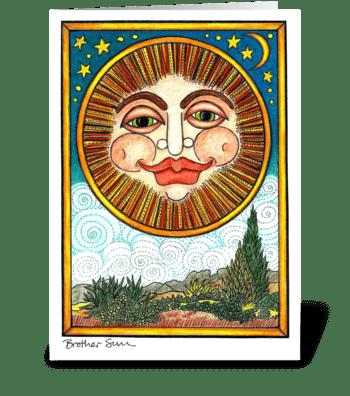 Brother Sun greeting card